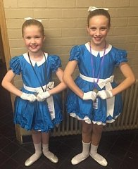 All England Song & Dance duet GOLD for Mimi and Delilah!