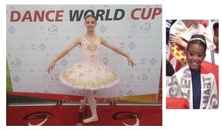Dance World Cup 2019  Ballet soloists  Grace P and Kristen-Leigh representing Team England!