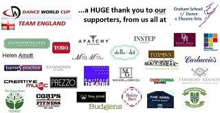 Thank you SO much  to our Dance World Cup Sponsors!