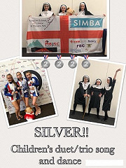 Wow!!!   It's the SILVER MEDAL for Ruby O, Amelie A & Olivia D at the Dance World Cup !
